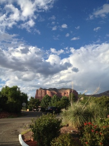 Heaven and Earth in Sedona Arizona (c) 2013 Kebba Buckley Button